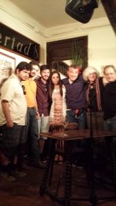 Grupo de poetas y profesores.